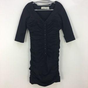 Byron Lars Black Ruched Dress